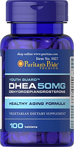 Puritans Pride Dhea 50 Mg Tablets, 50 Mg (100 Tabs), 100 Count (Pack of 1)