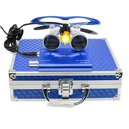 3.5×420mm Surgical Medical Binocular Loupes Optical Glasses with 3W LED...
