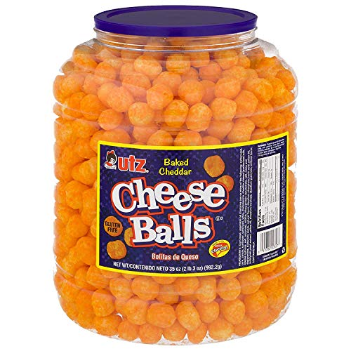 Utz Cheese Balls – 35 Ounce Barrel (2 lbs) – Made with Real Cheese,...