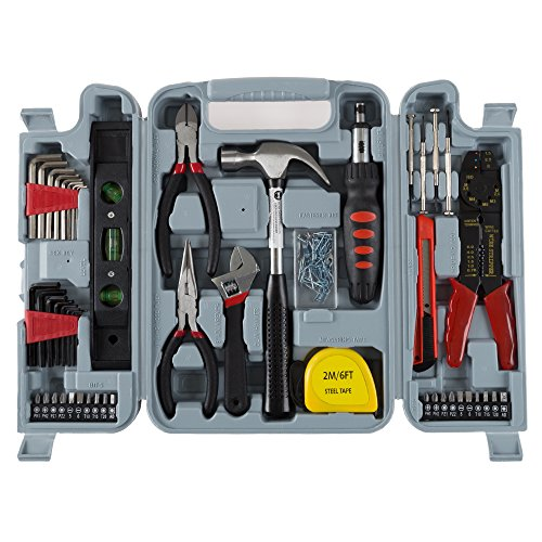 Household Hand Tools, 130 Piece Tool Set by Stalwart, Set Includes –...