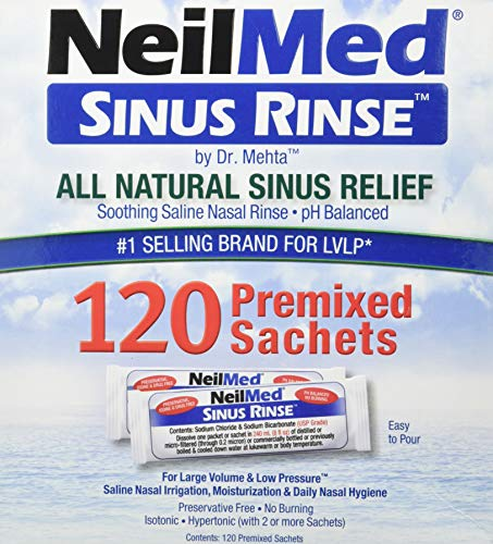NeilMed Sinus Rinse All Natural Relief Premixed Refill Packets (1 Pack of...