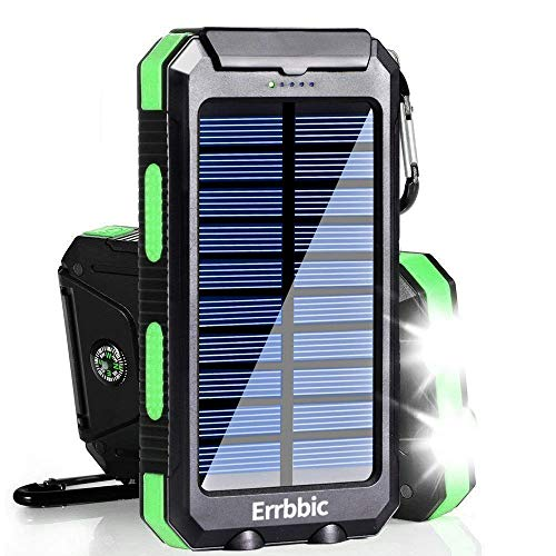 Solar Charger, 20000mAh Solar Power Bank Waterproof Portable Charger...