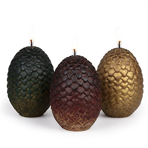 Game of Thrones Sculpted Dragon Egg Candles, Set of 3 - Perfect for GoT...