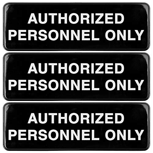Authorized Personnel Only Sign: Easy to Mount Informative Plastic Sign with...