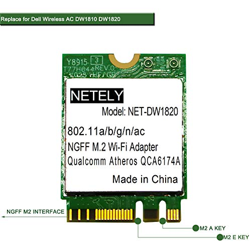 NETELY 802.11 AC 2.4GHz 300Mbps and 5GHz 867Mbps Wireless Module with...