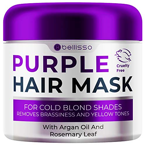 Bellisso Purple Mask for Blonde Hair - No More Yellow or Copper...