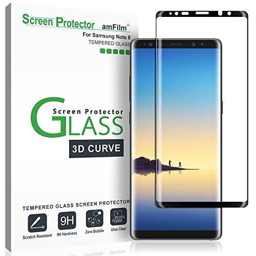 amFilm Glass Screen Protector for Samsung Galaxy Note 8, Full Screen...