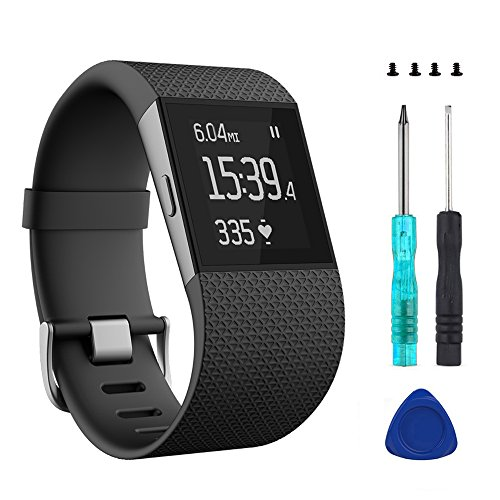 Wizvv Compatible Bands Replacement for Fitbit Surge, with Metal Buckle...