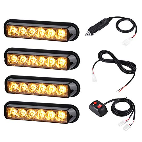 AT-HAIHAN 4 in 1 Waterproof Surface Mount and Grille Sync Flashing LED...