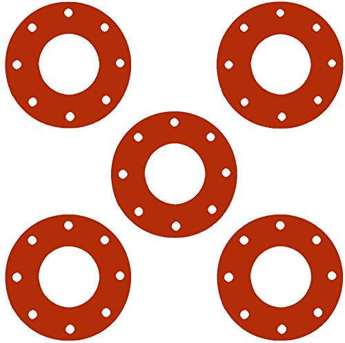 Sterling Seal CFF7237.400.125.150X5 7237 Red Rubber Full Face Gasket, 4.5'...