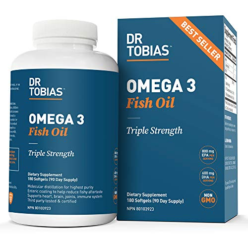 Dr. Tobias Omega-3 Fish Oil, Triple Strength, Supports Brain & Heart...