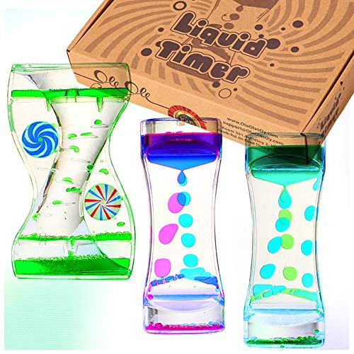 Liquid Timer - Sensory Toy for Relaxation, Liquid Motion Bubbler Timer with...