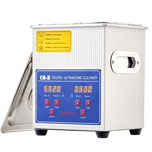 CO-Z 2L Ultrasonic Cleaner with Digital Timer and Heater, Professional...