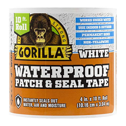 Gorilla 101895 Waterproof Patch & Seal Tape, 1-Pack, White