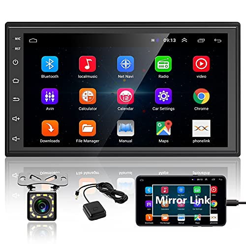 Podofo Double Din Android Car Stereo Radio with Bluetooth GPS 7 Inch HD...
