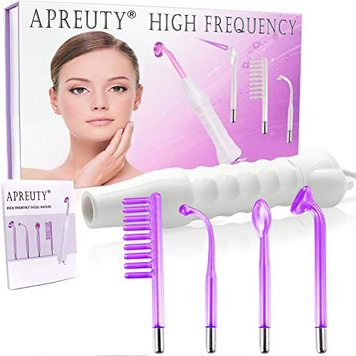 High Frequency Machine, Portable Handheld High Facial Frequency with 4 Pcs...