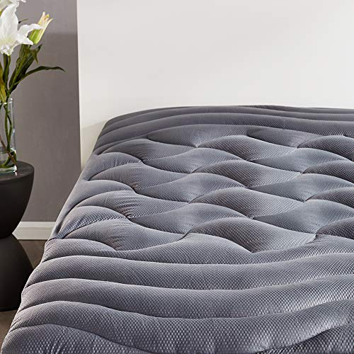SLEEP ZONE Premium Mattress Pad Cover Cooling Overfilled Fluffy Soft Topper...