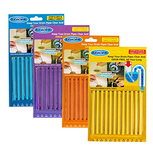IUDAOIHK Drain Cleaner Sticks Keeps Drains and Pipes Clear and Odor As Seen...
