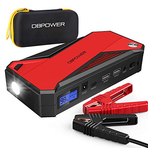 DBPOWER 800A 18000mAh Portable Car Jump Starter (up to 7.2L Gas, 5.5L...