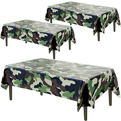 """Army Plastic Tablecloth 