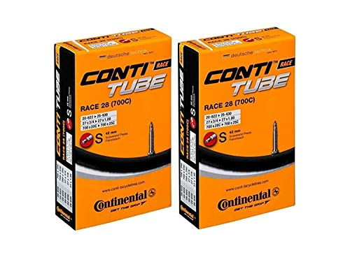 Continental Race 28 700x20-25c Bicycle Inner Tubes - 42mm Long Presta Valve...