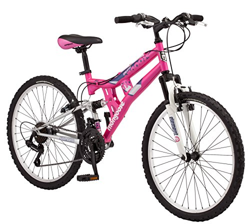 Mongoose Exlipse Full Dual-Suspension Mountain Bike for Kids, Featuring...