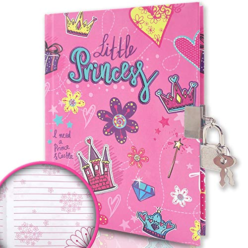 GINMLYDA Kids Diary with Lock for Girls, 7x5.3 Inch 160 Pages Girls...