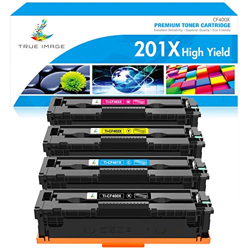 TRUE IMAGE Compatible Toner Cartridge Replacement for HP 201A 201X CF400X...