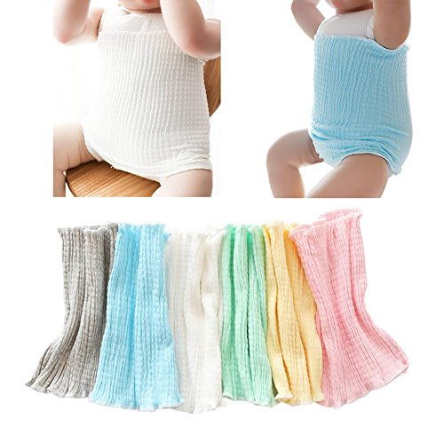 6Pack Baby Organic Cotton Baby Belly Button Band Umbilical Hernias Truss...