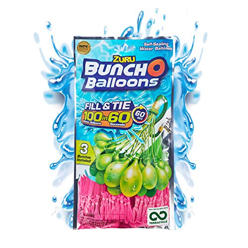 Bunch O Balloons – Instant Water Balloons – Pink (3 bunches – 100...