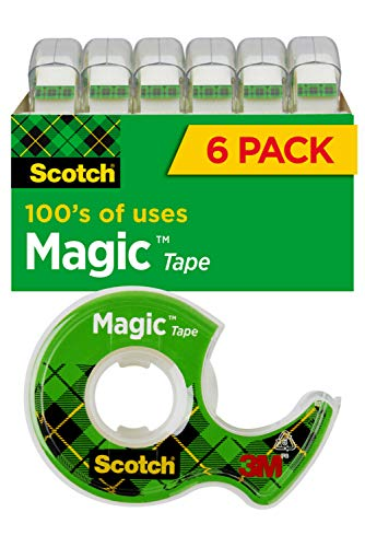 Scotch Magic Tape, 6 Rolls, Numerous Applications, Invisible, Engineered...