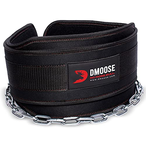 DMoose Fitness Dip Belt with Chain for Weightlifting, Pullups,...