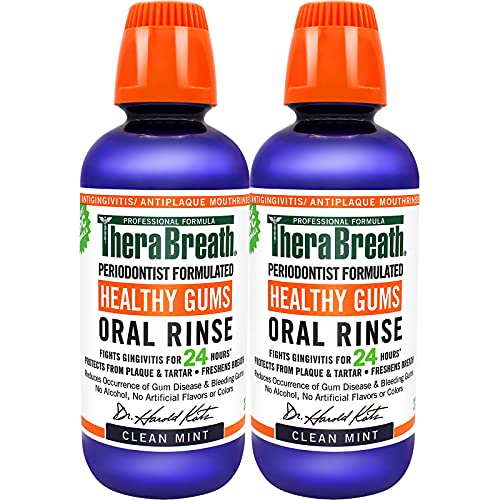 TheraBreath Healthy Gums Periodontist Formulated 24-Hour Oral Rinse with...