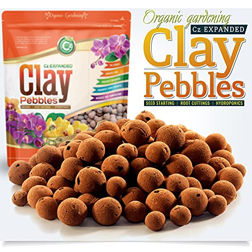 Organic Expanded Clay Pebbles Grow Media for Orchids, NFT DWC Hydroponics,...