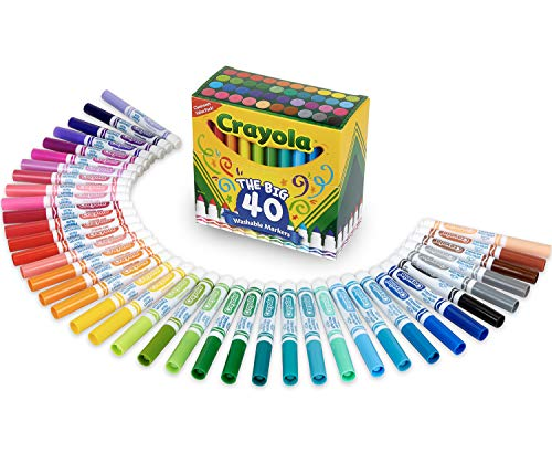 Crayola Ultra Clean Washable Markers, Kids Indoor Activities At Home, Broad...