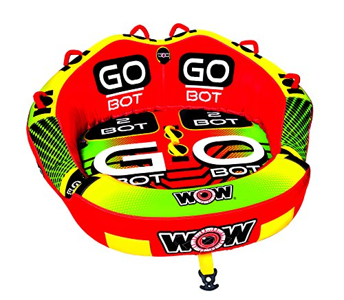 WOW Watersports Go Bot Towable, 1 to 2 Riders, Front and Back Tow Points,...