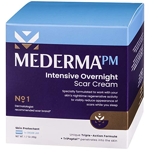 Mederma PM Intensive Overnight Scar Cream - Works with Skin's Nighttime...