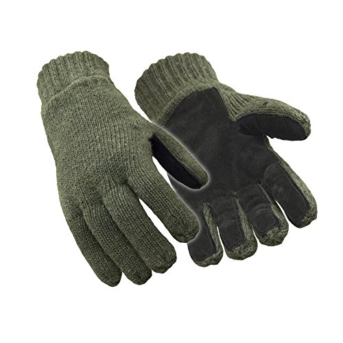 RefrigiWear Thinsulate Insulated Fleece Lined 100% Ragg Wool Leather Palm...