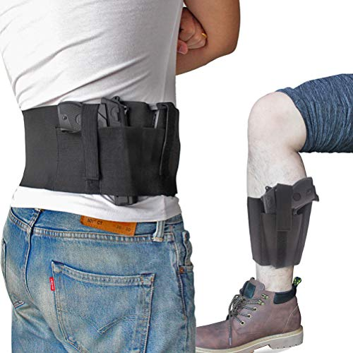 Bundle of Belly Band + Ankle Holster, Concealed Carry with Magazine...