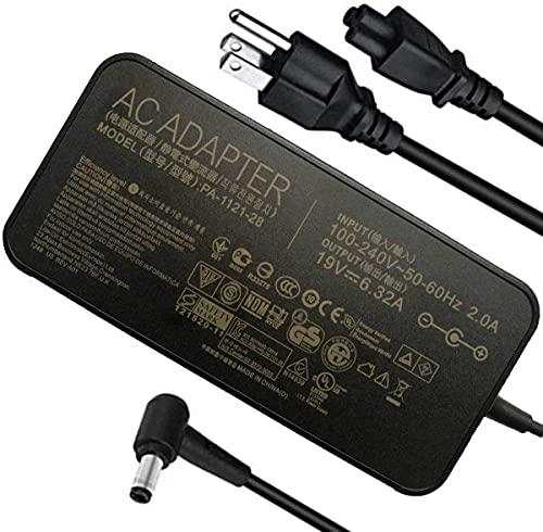 New 19V 6.32A 120w Laptop Charger Replacment Compatible ASUS ROG GL502VT...