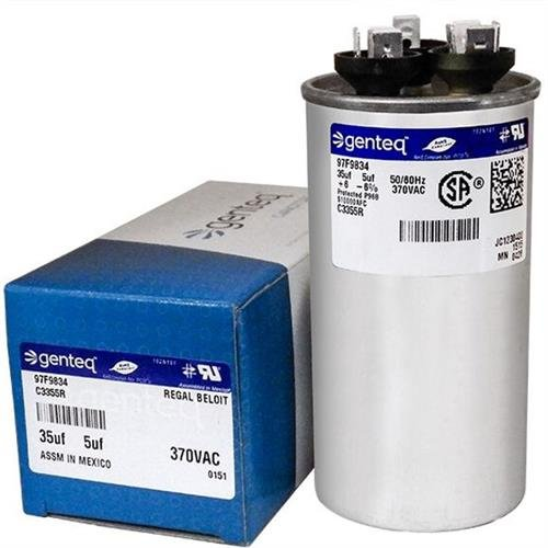 (2) Pack - Packard PRCD355 - 35 + 5 uF MFD x 370 VAC Genteq Replacement...