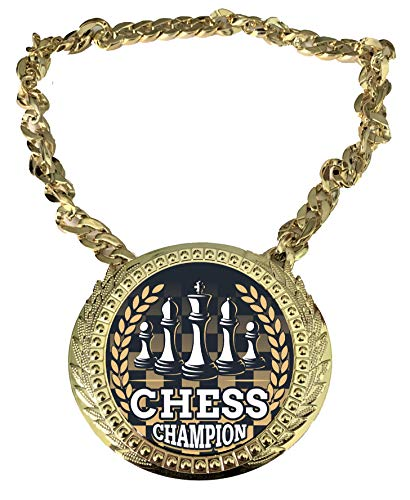 Express Medals Chess Champ Chain Trophy Award with a Center Plaque Plate...