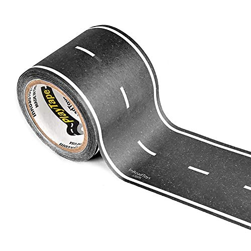 PlayTape Black Road - Road Car Tape Great for Kids, Sticker Roll for Cars...