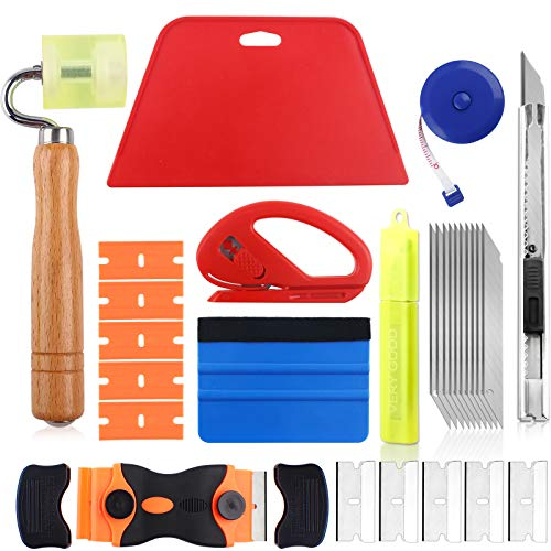 Wallpaper Tool Kit with Seam Roller, Utility Knife with 10 Blades, 2 Kinds...