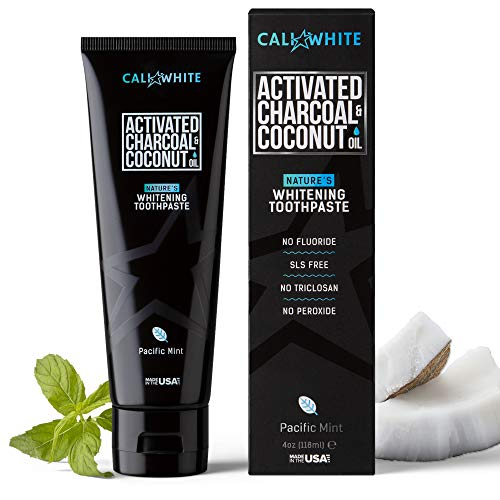 Cali White Activated Charcoal & Organic Coconut Oil Teeth Whitening...