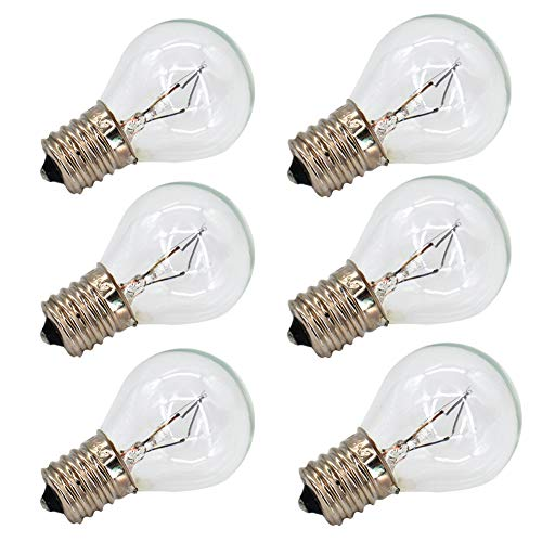 6 Pack S11 E17 Base 40 Watt Incandescent Bulbs for Lava Lamps,Replacement...