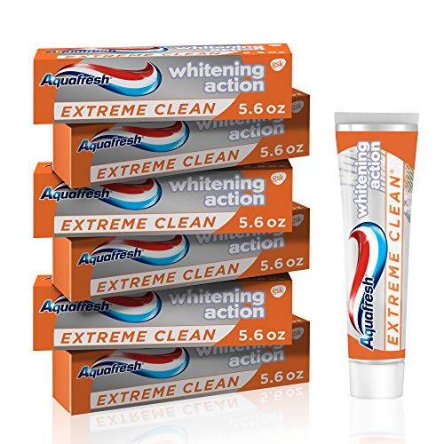 Aquafresh Extreme Clean Whitening Action Fluoride Toothpaste for Cavity...
