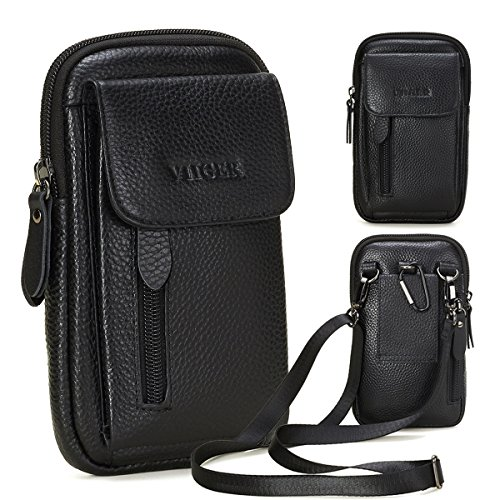 VIIGER Leather Cell Phone Holster Compatible with iPhone 12 Pro Max Case...