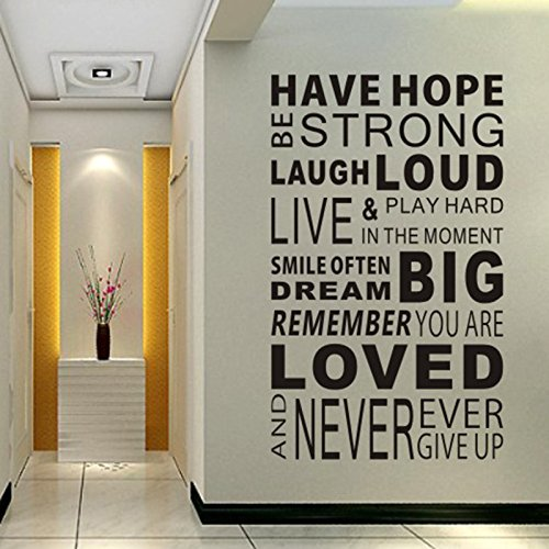 Delma Inspirational Wall Decals Quotes,Word Wall Sticker...