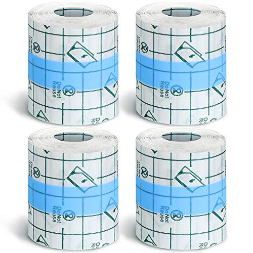 4 Rolls Transparent Stretch Adhesive Bandages Waterproof Clear Bandage...